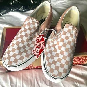 Checkerboard Slip on Vans Mgny Rose/TW